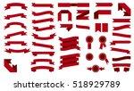 set of beautiful festive... | Shutterstock . vector #518929789