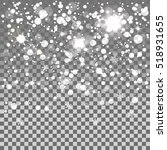 falling snow isolated on the a... | Shutterstock .eps vector #518931655