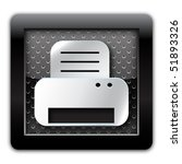 printer metal icon | Shutterstock . vector #51893326