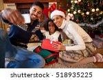 happy afro american family... | Shutterstock . vector #518935225