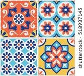decorative colorful tile... | Shutterstock .eps vector #518937145