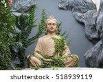 buddha statue in rishikesh ... | Shutterstock . vector #518939119