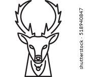 deer icon | Shutterstock .eps vector #518940847