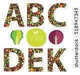 vegetables vector illustration   Shutterstock .eps vector #518947345