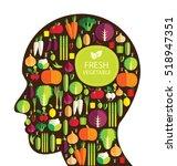 vegetables vector illustration   Shutterstock .eps vector #518947351
