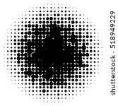 halftone circles  halftone dot... | Shutterstock .eps vector #518949229
