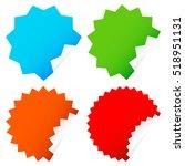 different starburst   sunburst... | Shutterstock .eps vector #518951131