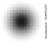 halftone circles  halftone dot... | Shutterstock .eps vector #518951257