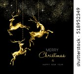 merry christmas and new year... | Shutterstock . vector #518952349