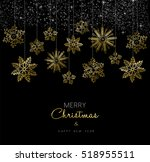 merry christmas happy new year... | Shutterstock . vector #518955511