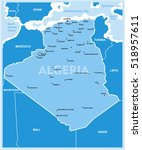 vector map of algeria and the...   Shutterstock .eps vector #518957611