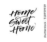 home sweet home postcard. hand...