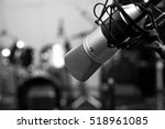 studio microphone close up in... | Shutterstock . vector #518961085