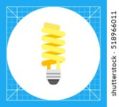 fluorescent lamp icon | Shutterstock .eps vector #518966011