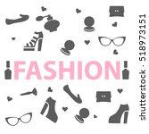 fashion trend. logo  vector | Shutterstock .eps vector #518973151