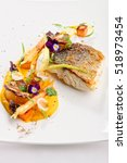 fine dining  fish fillet... | Shutterstock . vector #518973454