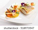 fine dining  fish fillet... | Shutterstock . vector #518973547