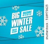 Big Winter Sale. End Of Season...