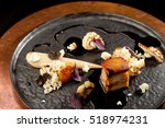 Small photo of Plated freshly grilled pork belly with potato purree and popcorn/fine dining
