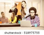 startup business people group... | Shutterstock . vector #518975755