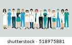 doctors and nurses in uniform... | Shutterstock .eps vector #518975881