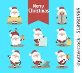 christmas with santa claus icon ... | Shutterstock .eps vector #518981989