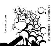 plexus atomic lattice in the... | Shutterstock .eps vector #518988769