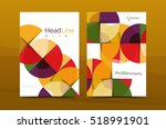 business annual report cover... | Shutterstock .eps vector #518991901