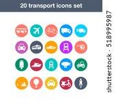 flat transport icons set   Shutterstock .eps vector #518995987