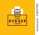 burger cafe. burger logo ... | Shutterstock .eps vector #518997985