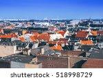 roof view of copenhagen  denmark | Shutterstock . vector #518998729