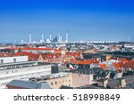 roof view of copenhagen  denmark | Shutterstock . vector #518998849