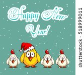 greeting card with funny...   Shutterstock .eps vector #518999011