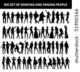 dancing and singing people's... | Shutterstock .eps vector #51900166