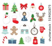 christmas and new year festive... | Shutterstock .eps vector #519002875