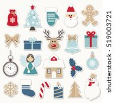 christmas and new year festive... | Shutterstock .eps vector #519003721
