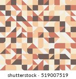 vector seamless square triangle ... | Shutterstock .eps vector #519007519