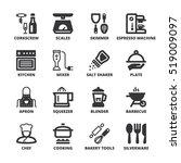 set of black flat symbols about ... | Shutterstock .eps vector #519009097
