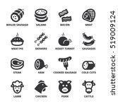 set of black flat symbols about ... | Shutterstock .eps vector #519009124