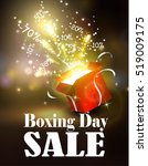 boxing day background with open ... | Shutterstock .eps vector #519009175