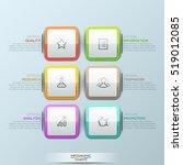 modern infographic design... | Shutterstock .eps vector #519012085