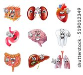 funny cartoon human organs... | Shutterstock .eps vector #519012349