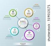 vector company infographic... | Shutterstock .eps vector #519013171
