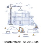 construction site  building a... | Shutterstock .eps vector #519013735