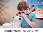 little child boy looking... | Shutterstock . vector #519019729