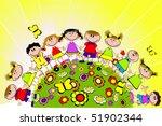 vector illustration of childhood | Shutterstock .eps vector #51902344