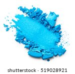 Blue Eye Shadow Isolated On...