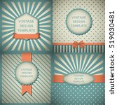 Set Of Vintage Design Template...