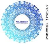 tribal mandala design set.... | Shutterstock .eps vector #519040579