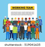 group of worker  builder and... | Shutterstock .eps vector #519041635